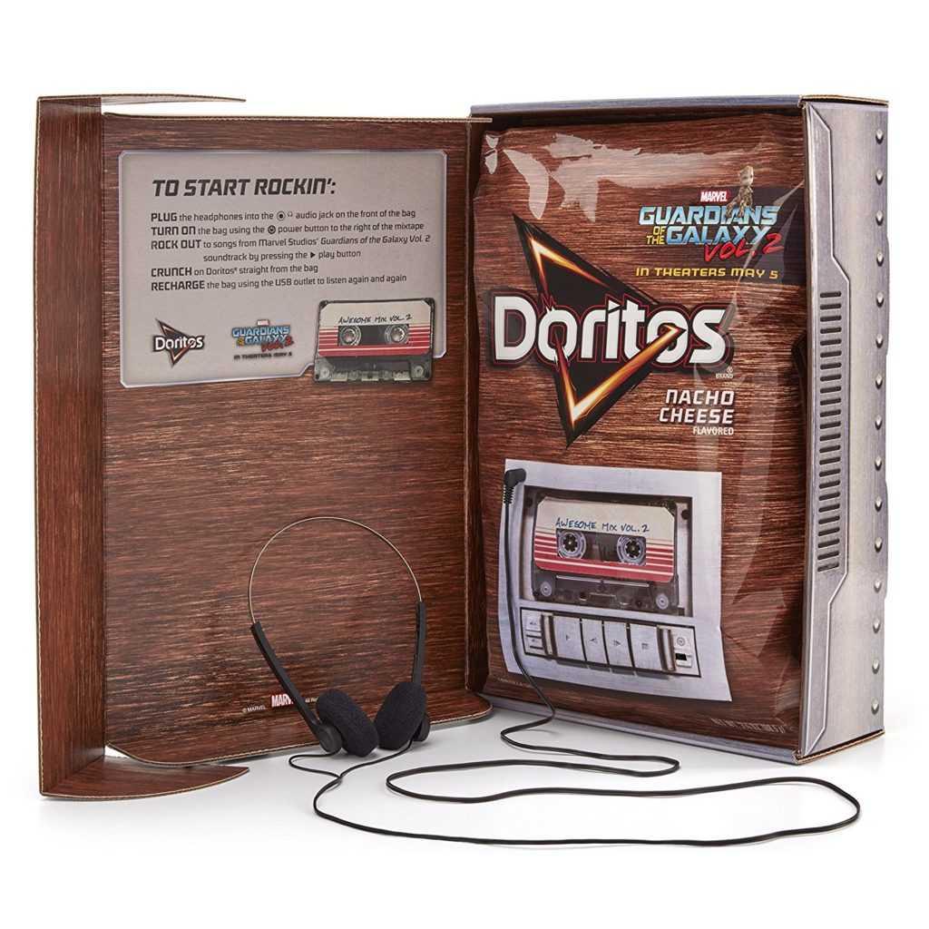 Doritos lança embalagem que toca as músicas de Guardiões da Galáxia Vol. 2   e19afa07005
