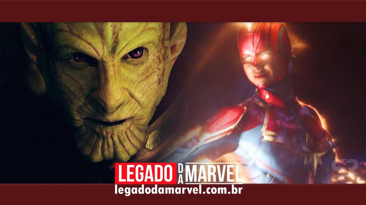 Imagem de Skrull em Capitã Marvel dá dica sobre Invasão Secreta na Fase 4!