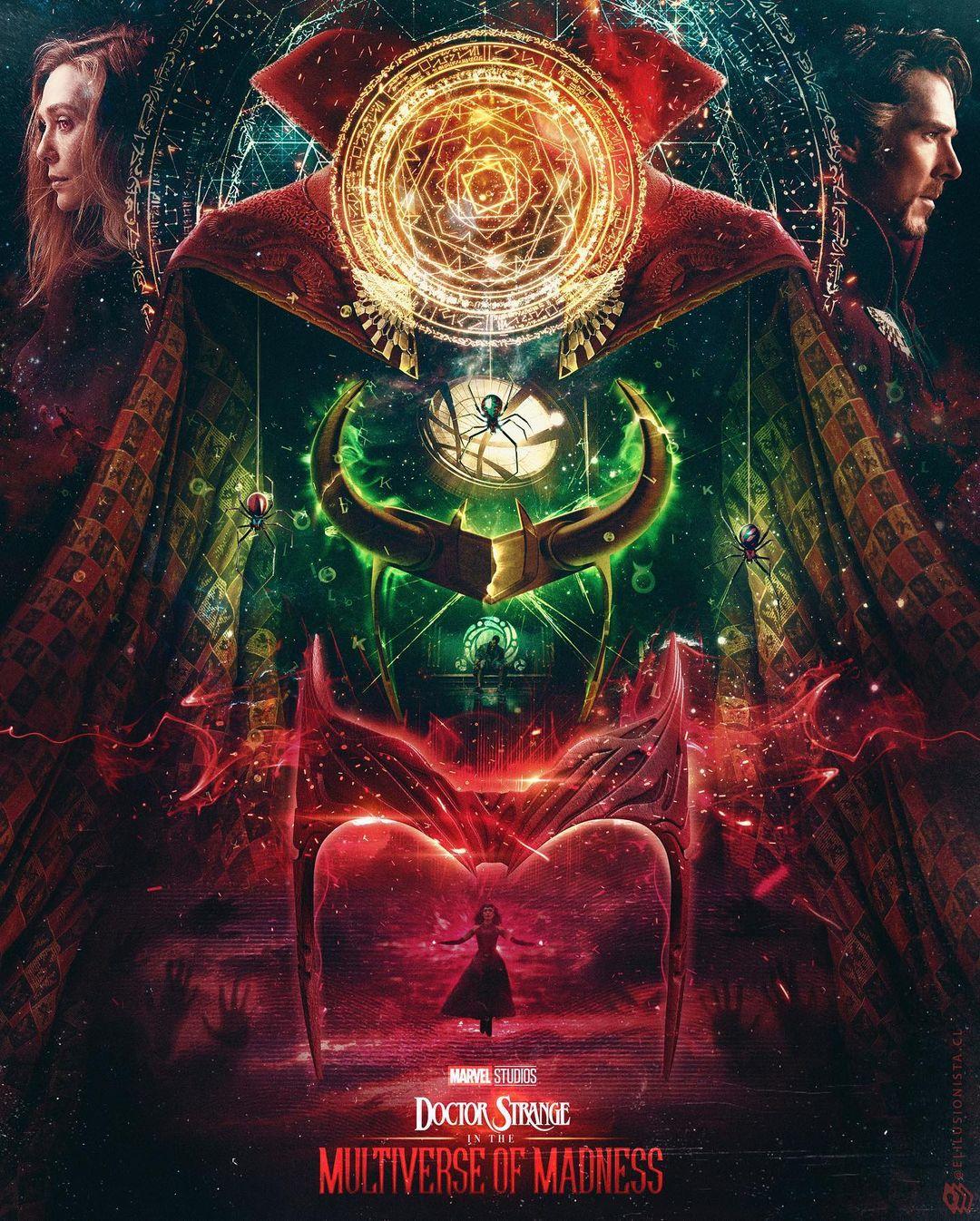 Poster conectando Loki e Doutor Estranho 2 legadodamarvel