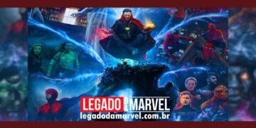 Doutor Estranho consertar o multiverso com Darkhold de WandaVision em nova arte legadodamarvel
