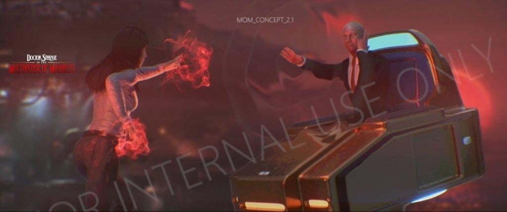 Doutor Estranho 2: Foto vazada revela a luta entre Wanda e o Professor Xavier